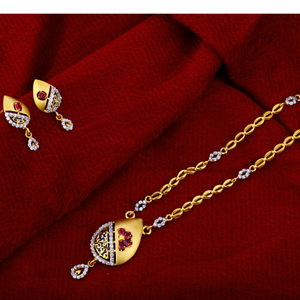 22kt gold  classic ladies   chain necklace cn