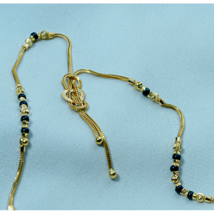 Delicate gold mangalsutra ms-910