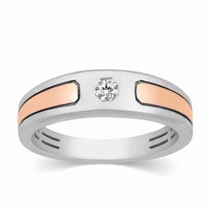 18kt gold designer real diamond gents ring