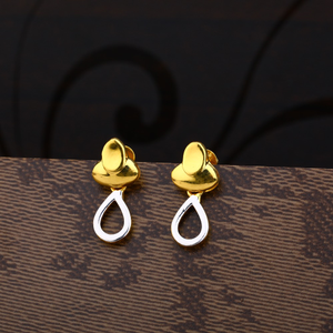 Ladies 916 gold plain earring -lpe162