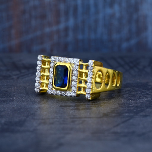 Mens exclusive blue stone 916 gold ring-mr10
