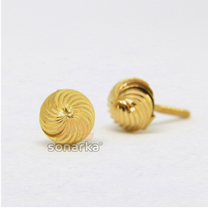 22kt 916 yellow gold spiral design tops