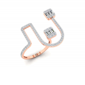 18k gold light weight fancy ring for women pj