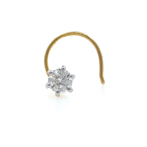 18kt / 750 yellow gold classic single 0.13 ct