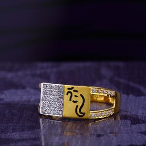 916 cz gold stylish gentlemen's god ring mgr1