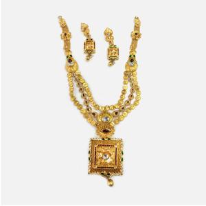22kt gold fancy bridal necklace set rhj-0006