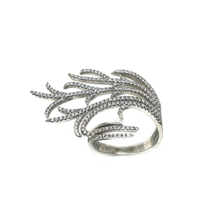 925 sterling silver modern style ring mga - l