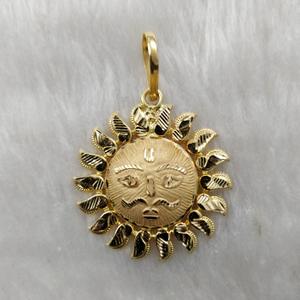 916 gold surya pendant
