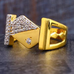 22ct gold exclusive cz  men's ring mr645