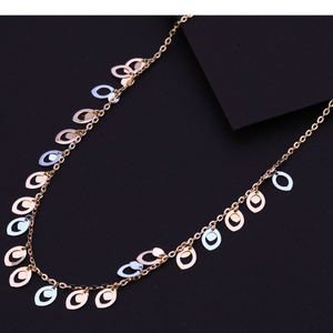 750 hallmark rose gold  exclusive necklace rt