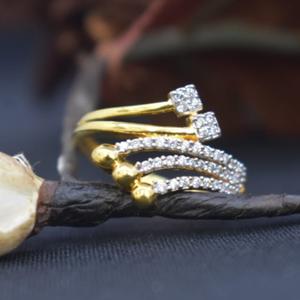 916 gold cz rings for wedding mk-r11