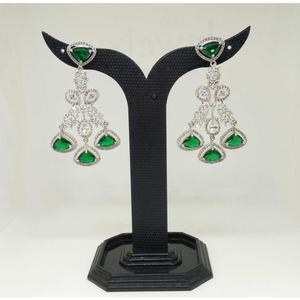 1 gram green fancy stone earring