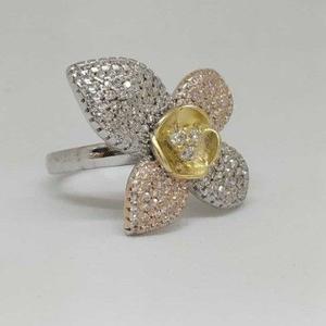 925 sterling silver designer flower ladies ri