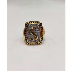 916 gents fancy s letter ring gr-26027