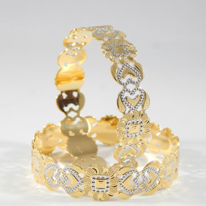22kt yellow gold bangles for loving birds