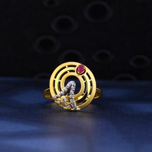 22kt gold designer hallmark ring lr66
