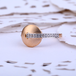 Ladies 18k rose gold fancy ring-rlr409