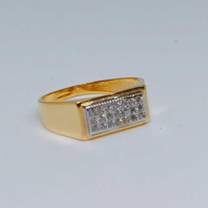 22k gents fancy gold ring gr-28643