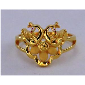 916 plain casting peacock ring