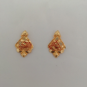 916 gold fancy earrings