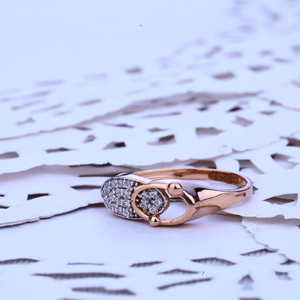 Rose gold ladies ring-rlr156