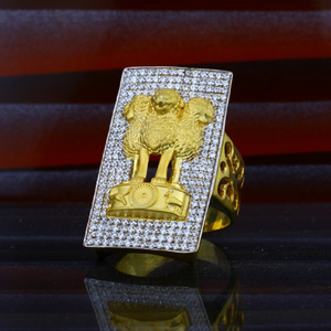 Mens exclusive heavy weight 916 gold ring-mhr