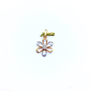 Rose gold real diamond pendant