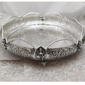 925 pure silver antique pooja thali po-263-31