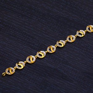 Ladies gold 916 fancy bracelet-lb181