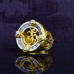 Mens exclusive god om 916 gold ring-mgr25