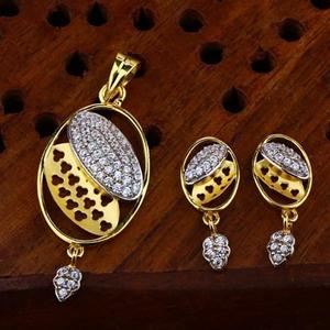 916 gold cz pendant set ps-0014