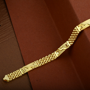 Mens 916 gold plain cz cartier bracelet-mcrb1