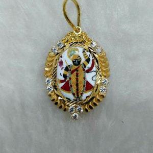 22kt gold srinathji photo pendant