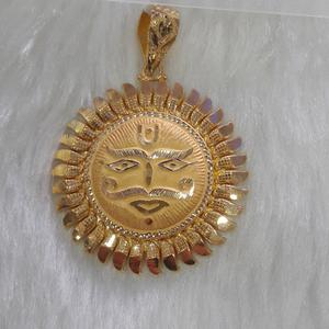 22k 916 gold surya pendant