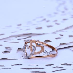 Ladies rose gold 18k ring-rlr226