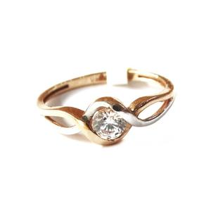 18k rose gold soliter diamond ring mga - rgr0