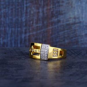 Mens 916 gold ring-mr237