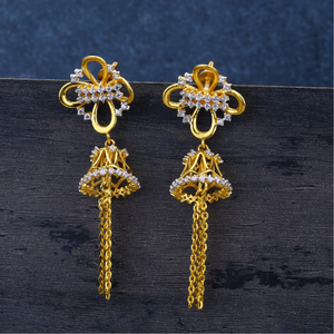 Ladies 916 gold latkan fancy jummar earrings