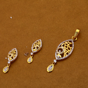 Ladies pendant set 916 cz