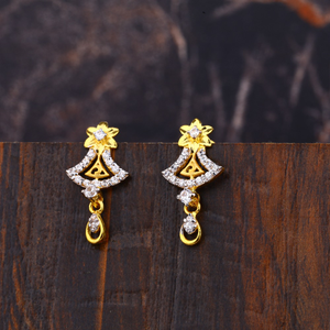 Ladies 22k gold fancy earring -lfe162