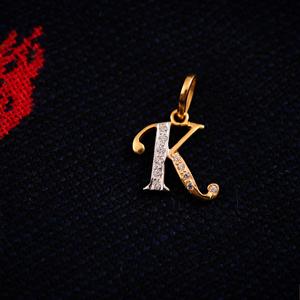 22k alphabet pendant