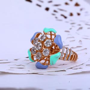 Rose gold designer ladies ring-rlr88