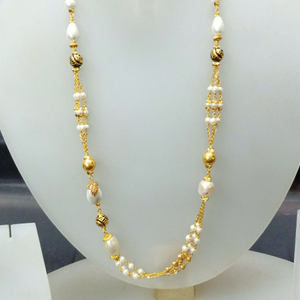 22 ct white pearl fancy mala