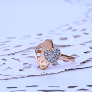 Ladies rose gold cz ring-rlr219