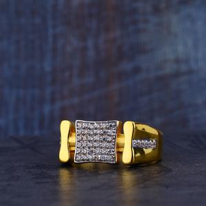 Mens gold cz ring-mr330