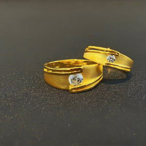 22kt 916 gold couple ring