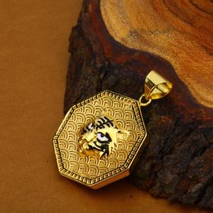 Mens exclusive 18k hollow gold lion pendant-h