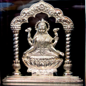 Silver shree lakshmi maa statue(murti) mrt-13