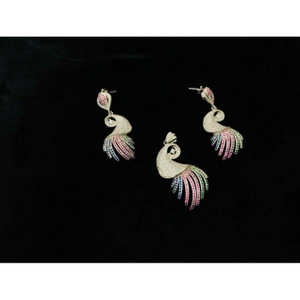 92.5 sterling silver peacock style pendant se