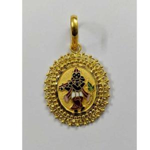 Gold krishna pendant